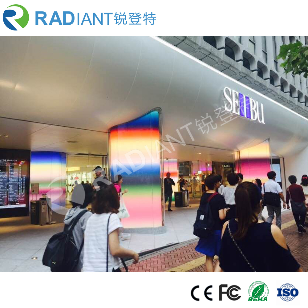 P4 thin pixel indoor sharped video see through led display flexible