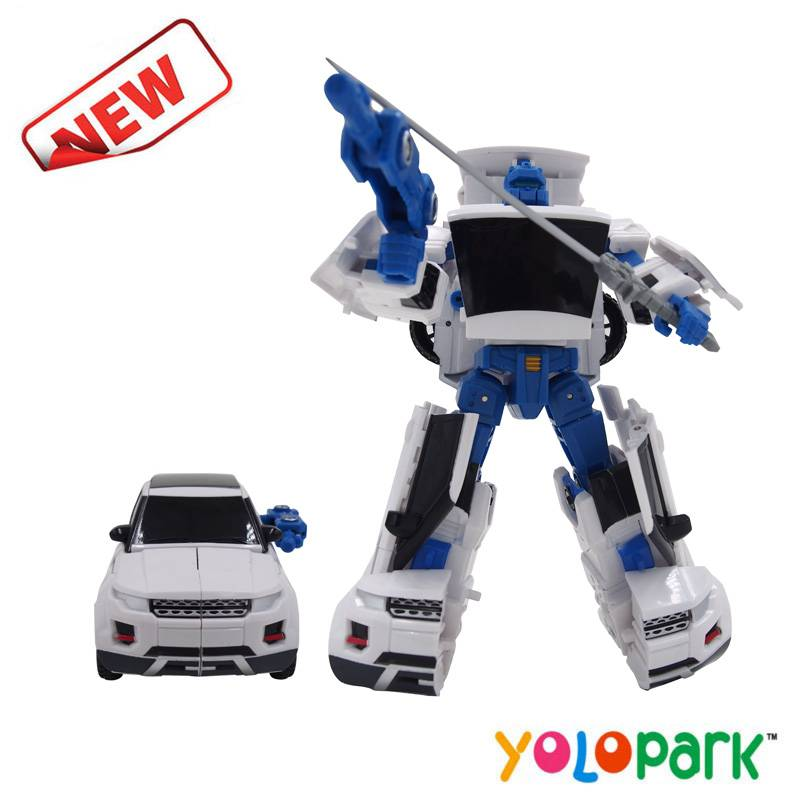 2016 New Items Intelligent Transformation Robot Car Toys For Kids factory Robot kids fighting robot