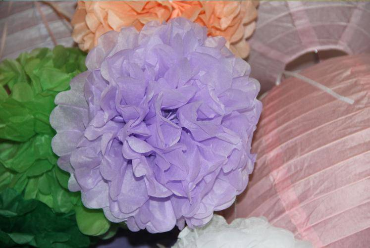 "8"" Yard Tissue Paper Pom Poms Flower Balls for Party Decoration Birthday Paper Decoration"