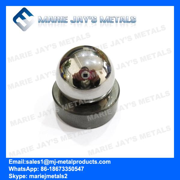 Tungsten carbide valve ball and seats