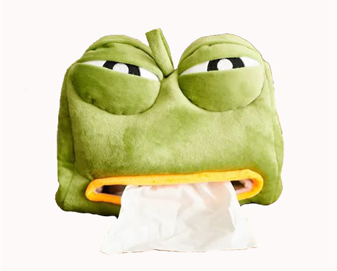 Hot Sale Stuffed Plush Frog Toy Tissue Box