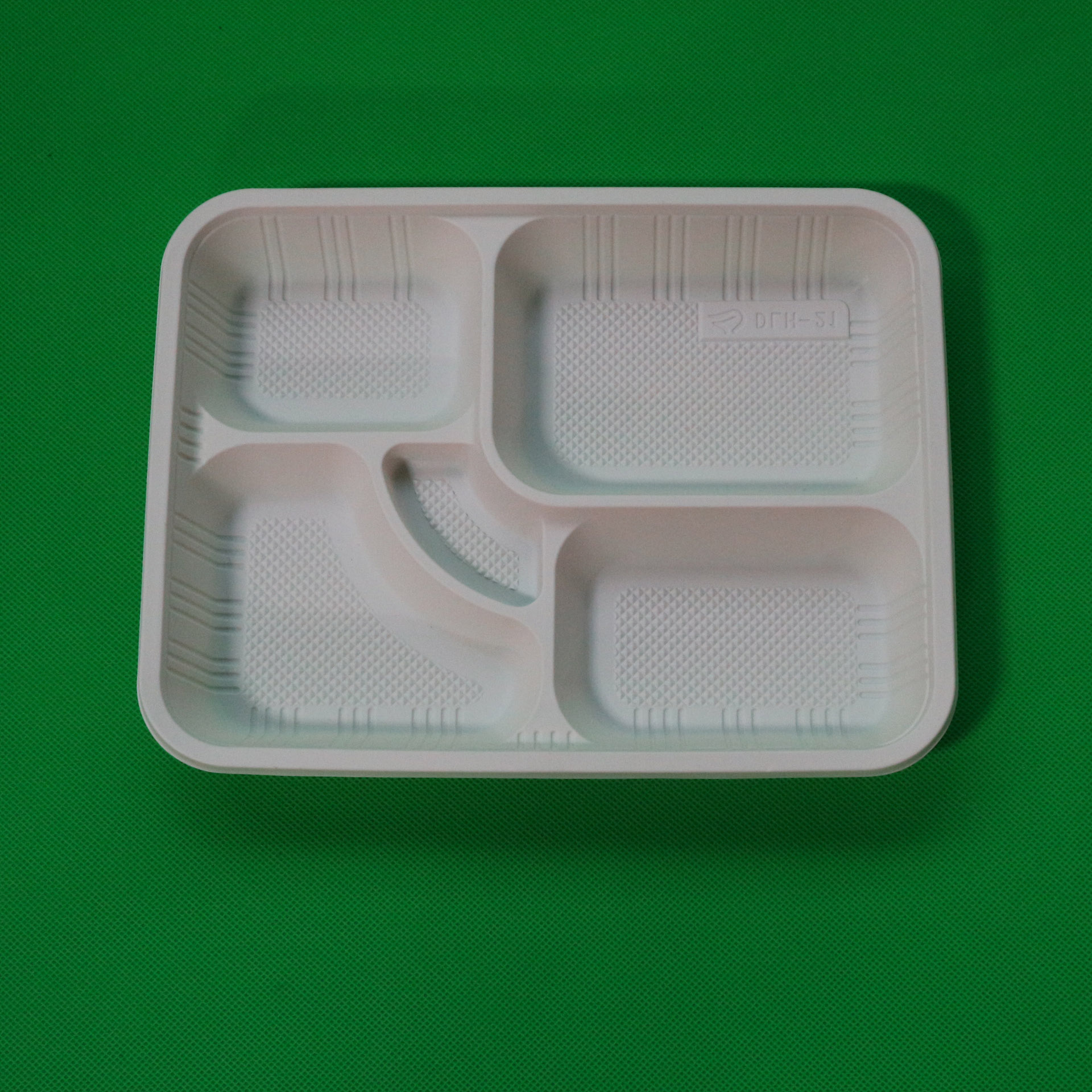 Disposable Food Container 5 Compartment Plastic Biodegradable School Lunch Tray