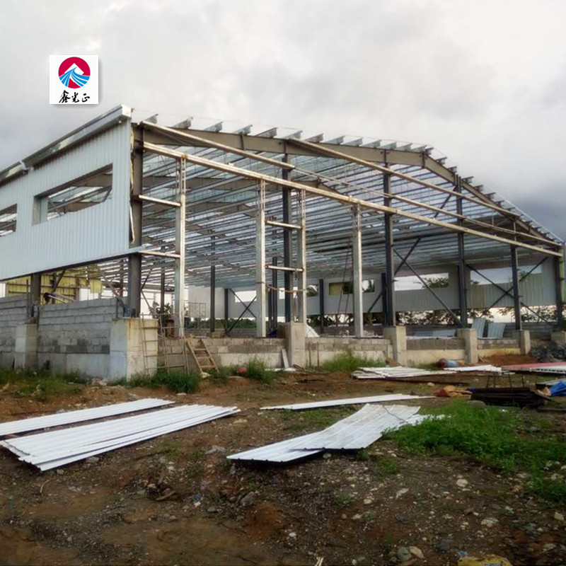 Prefab H Steel Structure Poultry Farm Shed Chicken house for Fryers meat chicken