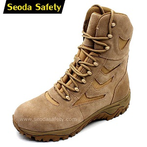 High quality Hihg cut army military training shoes