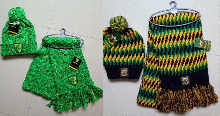 Knitted Acrylic Jacquard Football Soccer Sport Fans Winter Scarf Shawls with Logo