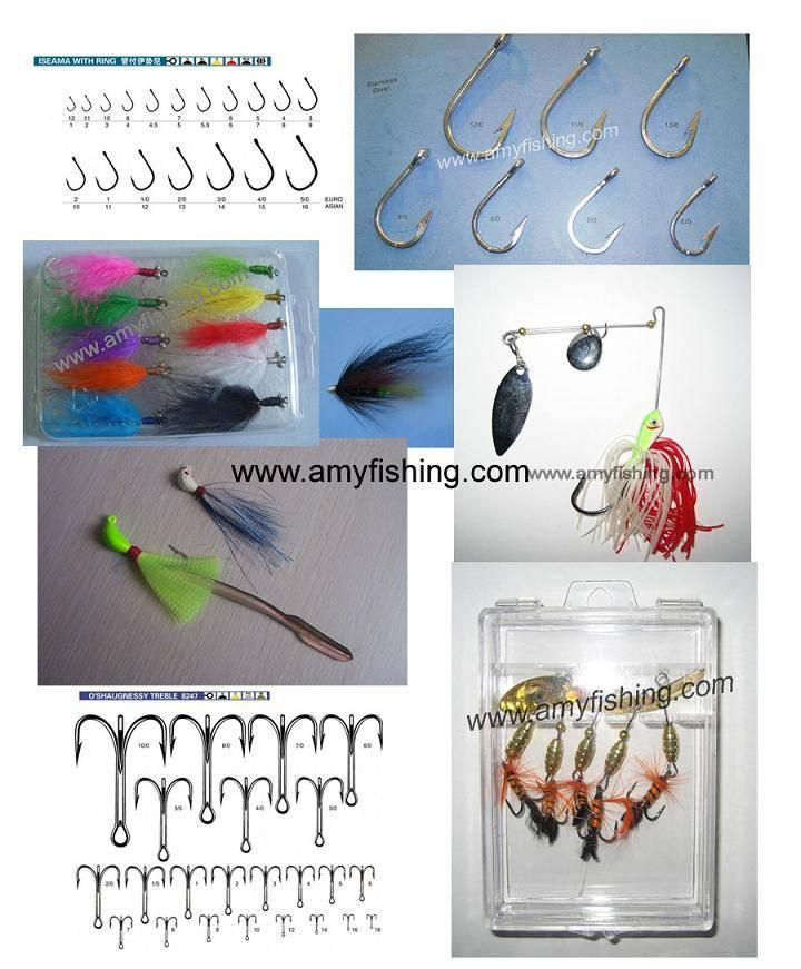 fishing hook, treble hook, fly hook, squid jig, carp hook, tuna hook