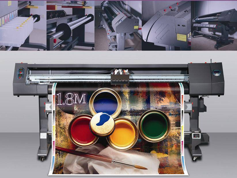 Eco Solvent Printer (1.8m with Epson DX5 Printheads)