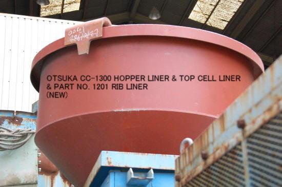 BRAND NEW OTSUKA CC-1300, CEC-1300, CF-1300 HOPPER LINER & TOP CELL LINER & PART NO. 1201  RIB LINER