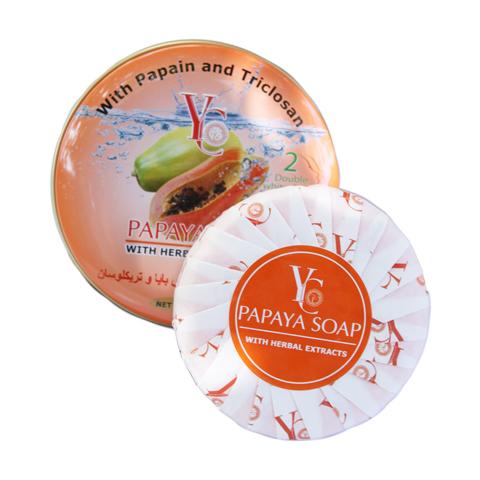 Papaya soap in metal box package YC brand Thai