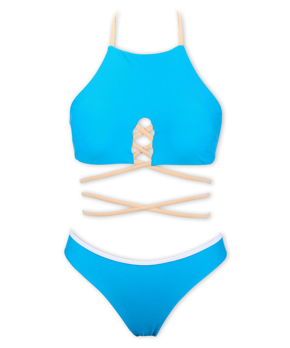 cross string ties womens bikinis bathing suits