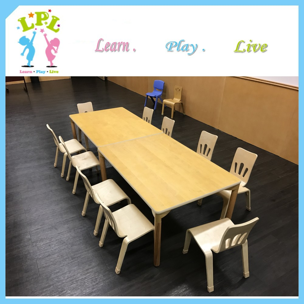 HOT offer Export North America children study furniture squre hardwood kids table