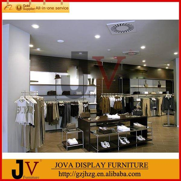 Modern retail clothing store fixtures design for clothes store