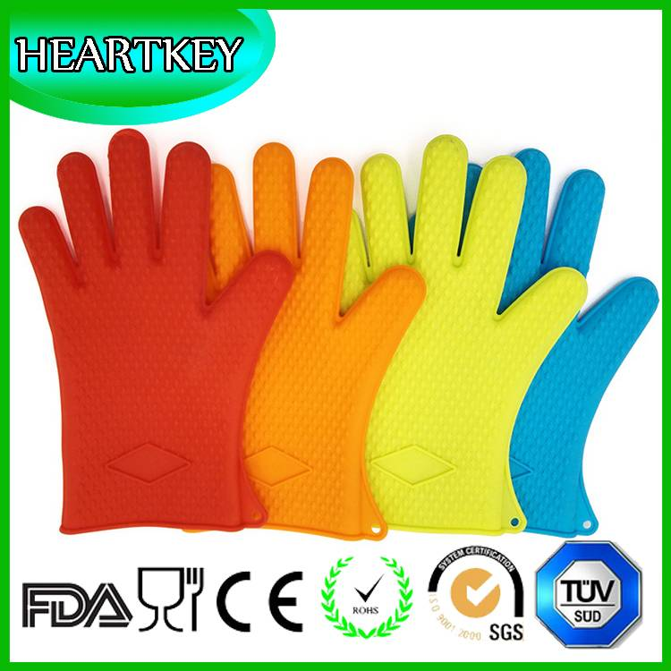 High quality Heat Isolation Gloves, Food Grade Grilling BBQ Gloves Waterproof Silicone Heat