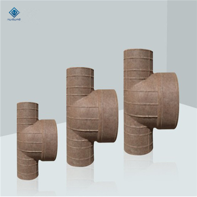 China good price hot sale casting refractory paper tee reducer tube