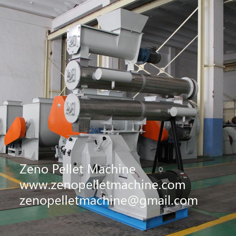 Large capacity ring die pellet mill