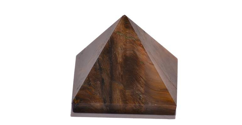 Tiger Eye Pyramids
