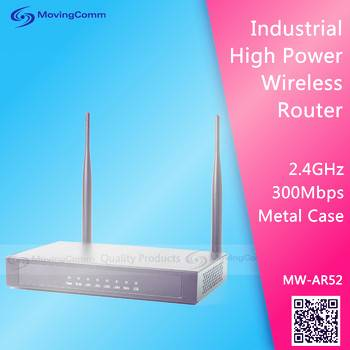 500mW High Power 2.4GHz 300Mbps Wireless Router support OpenWRT of AR52