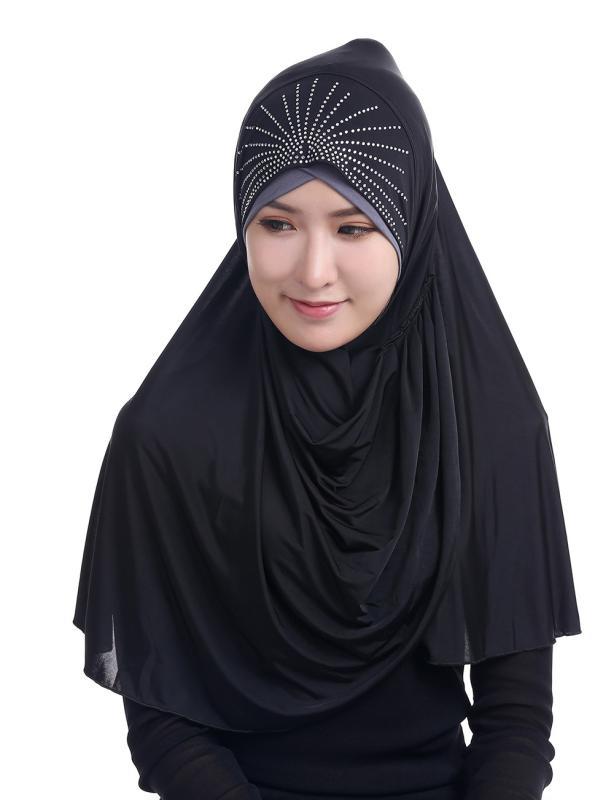 Solid Color Muslim Hijab Islamic Head Scarf Wraps