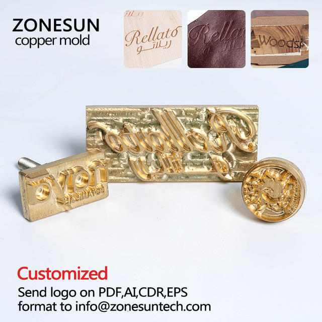 ZONESUN iron Mold with Logo,Personalized Mold heating on Wood/Leather,league DIY gift,Custom Design