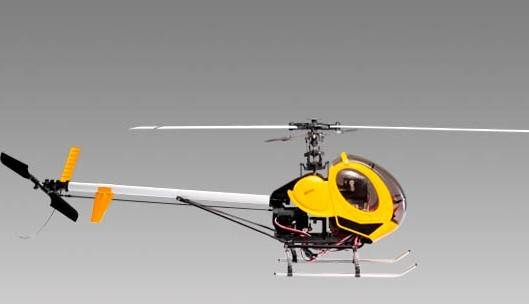 2.4G 6 Channel 400 Class Hughes RC Helicopter for Hobby