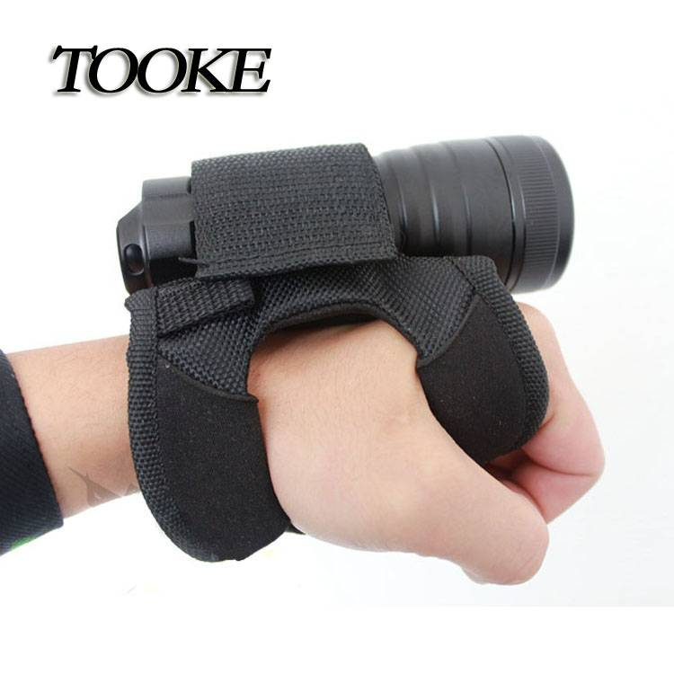 TOOKE Hand-Free Holder for Light Holder for Universal Diving Torch Flashlight(without flashlight