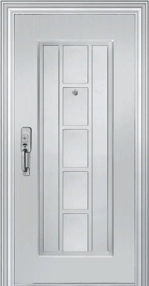 Apartment stainless steel panel door