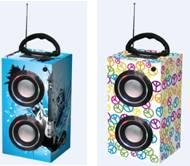 portable wooden speaker