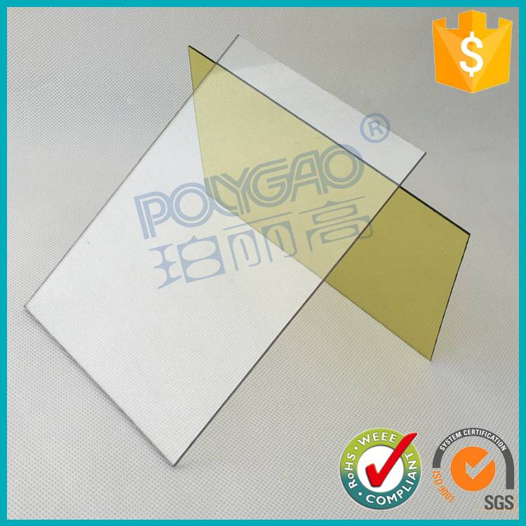 Strong plasticity resistance 100% UV virgin material clear color soild polycarbonate sheet