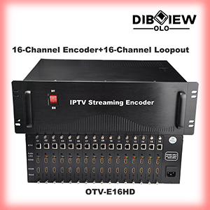 OTV-E16HD 16 in 1 HDMI With Loopout H.265 HEVC H264 IP Card Code Streaming Video Encoder For IPTV Ho