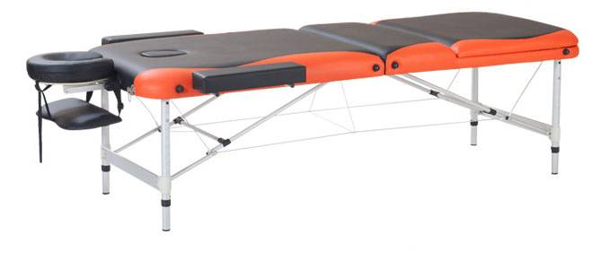 NHA35 Two-section folding portable aluminum massage table