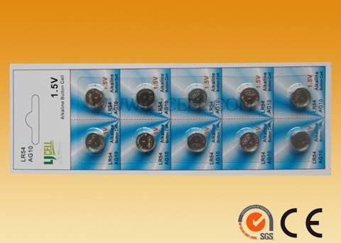 1.5V Alkaline manganese dioxide button cell LR1130 68mah
