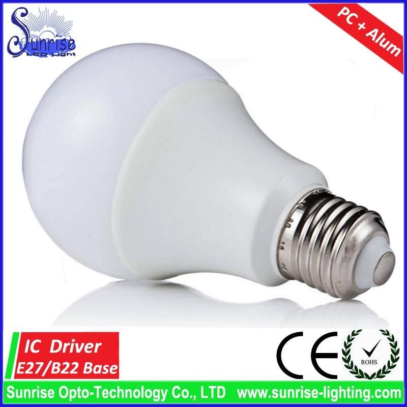 9W E27 LED bulb light