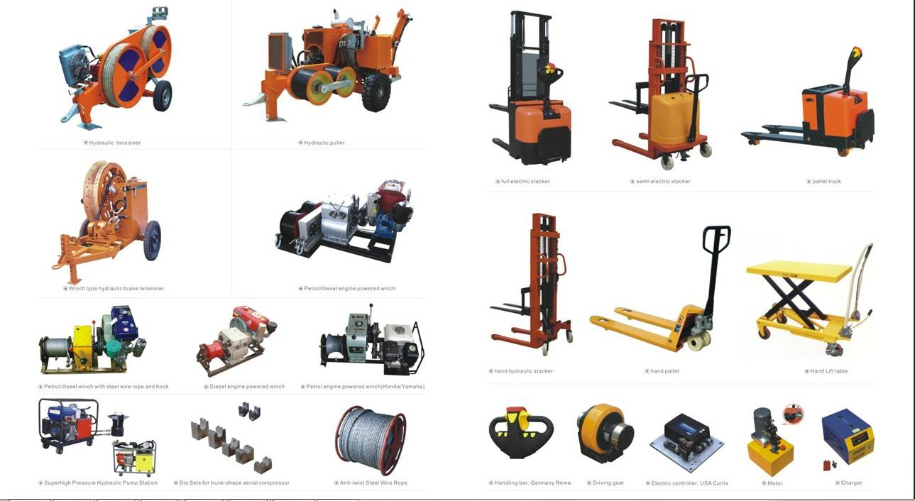 Overhead Power line Construction OPGW Stringing Equipment and Accessories