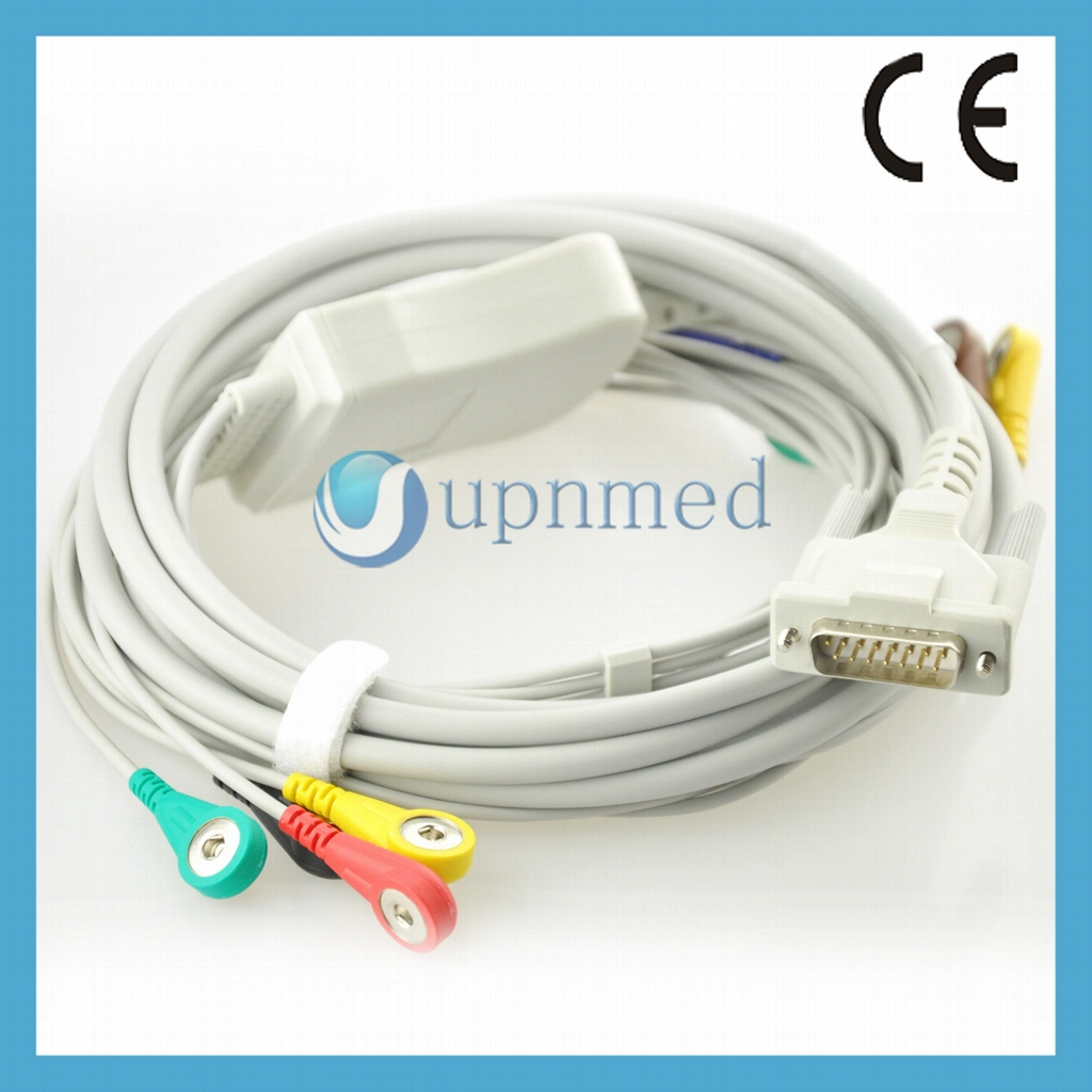 Cardiette 10 lead patient Cable with lead wires