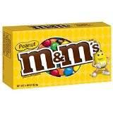 M&M's Peanut Milk Chocolate Candies, Theater Box (3.4 oz. box , 12 ct.)