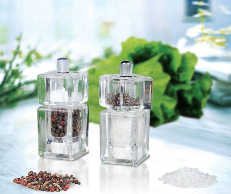 Acrylic Pepper or salt mills set