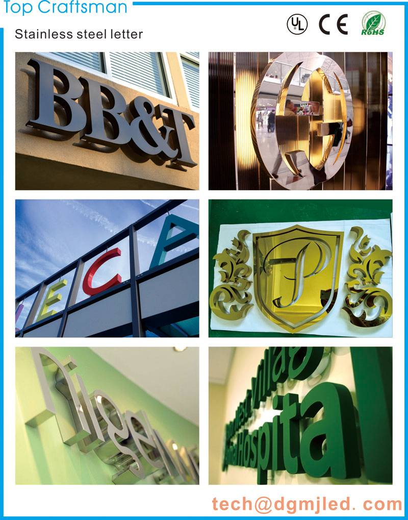 2015 All kinds of metal sign stainless steel letter for shop front