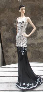 Black dress models show custom sexy girl figurine resin craft