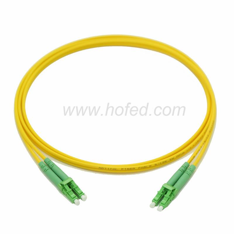 LC/APC-LC/APC Duplex Singleimode Fiber Optic patch Cord