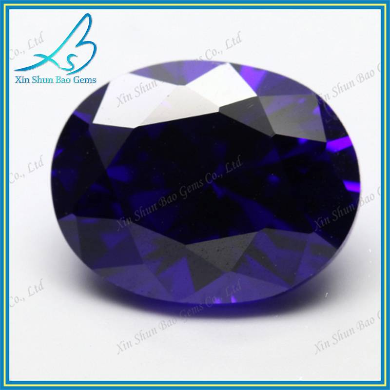 15*20mm oval cut cubic zirconia gemstone type big size lavender loose cz stones