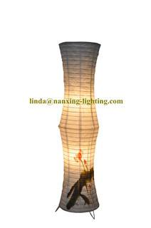 home decorated floor paper lamp