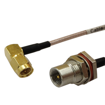 New Modem Coaxial Cable SMA Male Plug Right Angle To FME Male Plug Connector RG316 Cable 30CM 12inch