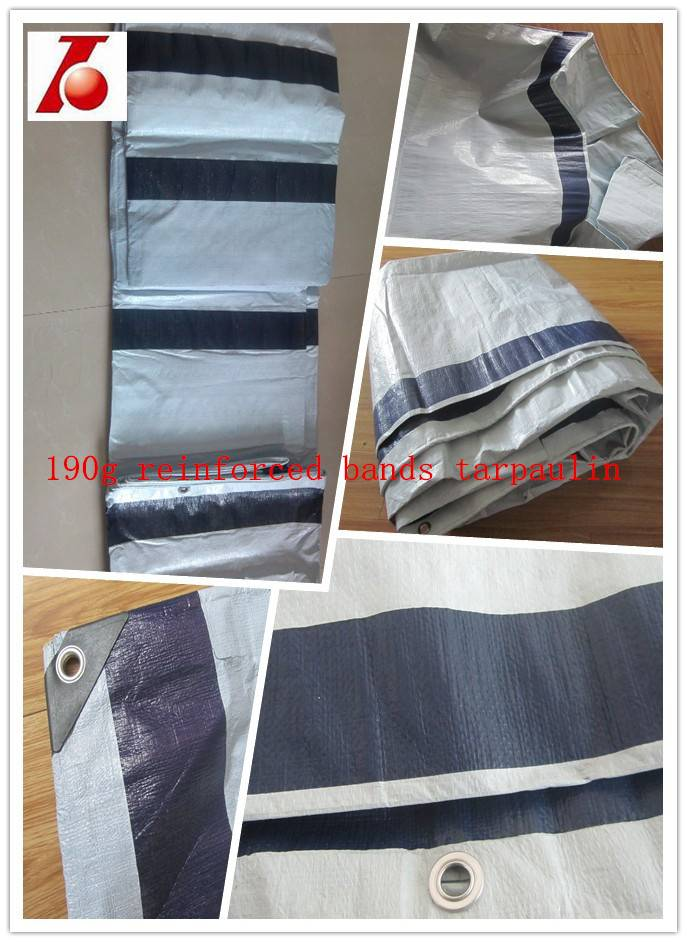 190gsm 4*5m fiber  tarpaulin with reinforced band