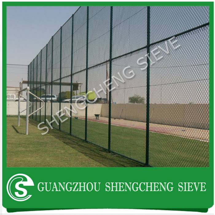 Industrial building site enclosures fence security PVC coated chain mesh fencing Philippines