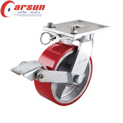 Xtra Heavy Duty Caster with Moldon Polyurethane Aluminum Core Wheel