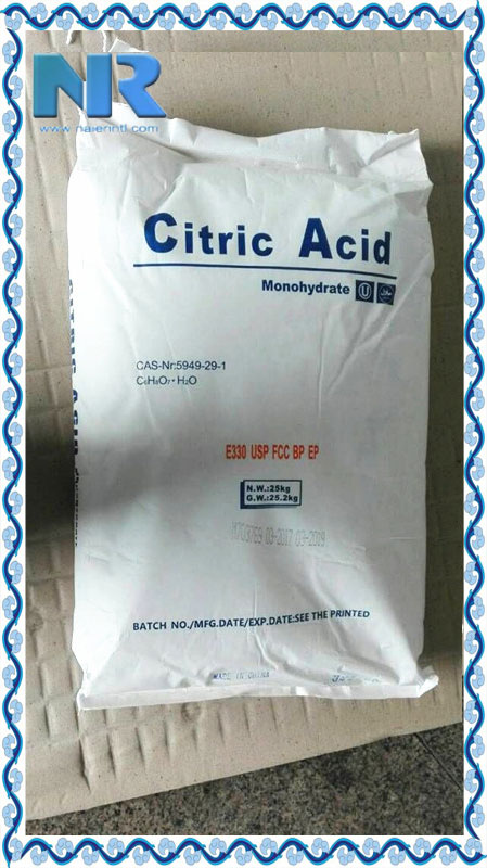 China factory supplier 25kg bag citric acid monohydrate food grade/ citric acid monohydrate price
