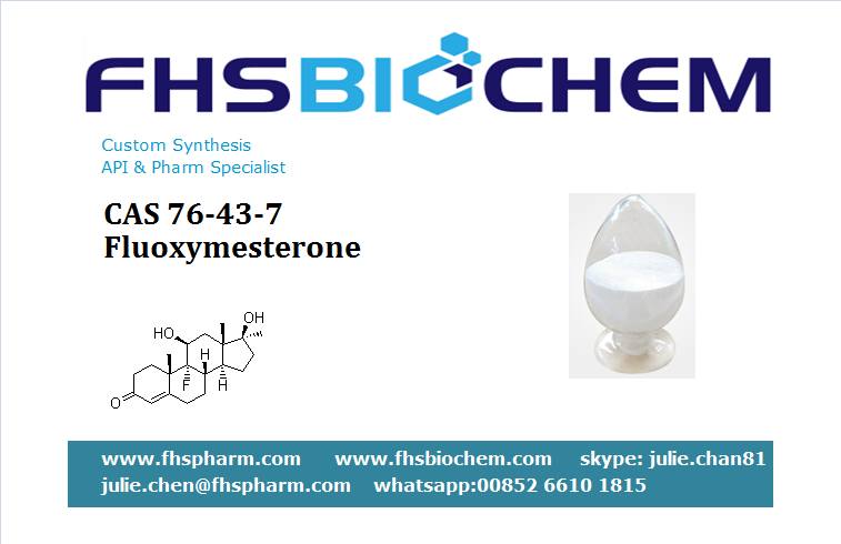 Buy Anabolic Raw Steroids Hormone Powder Fluoxymesterone USA Strength Gains, CAS 76-43-7