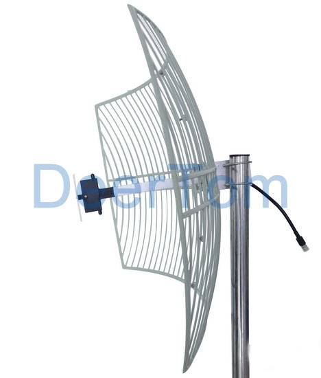 1920-2170MHz 3G UMTS Outdoor Directional Grid Parabolic Antenna 21dBi Base Station Antenna