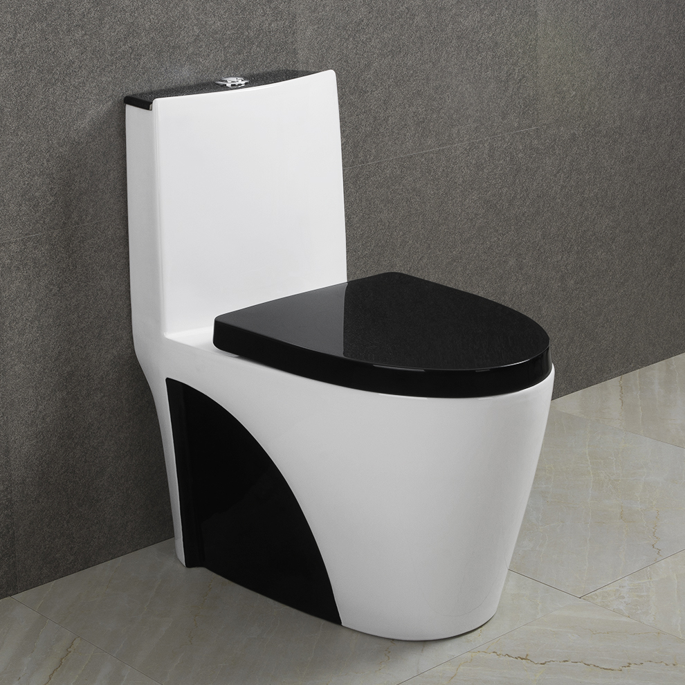 9168 China manufacturer cheap black toilets colored one piece toilet bowl