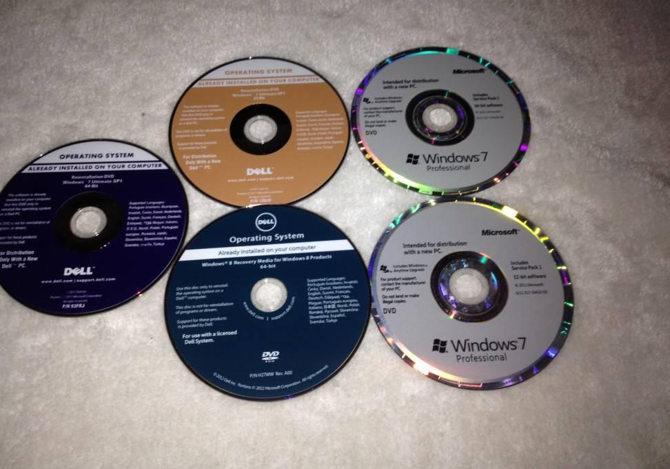 Wind 7 Professional OEM Key DELL 32BIT 64BIT DVD DELL COA Sticker